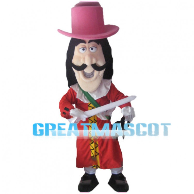 Captain Hook Pirate Mascot Costume