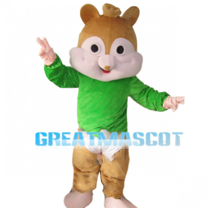 Simple Version Of Theodore Chipmunk Mascot Costume