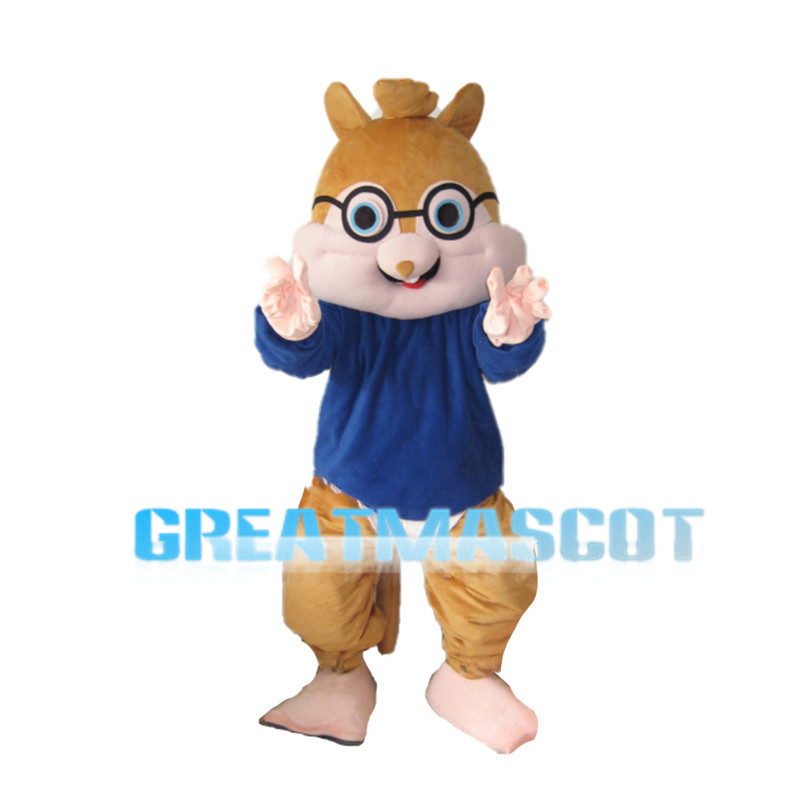Simple Version Simon Chipmunk Mascot Costume