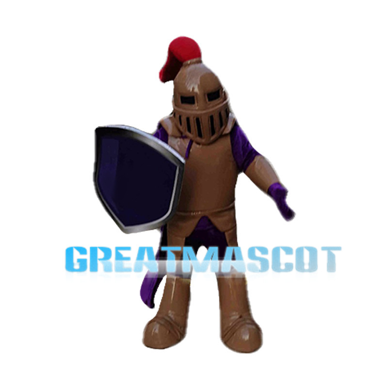 Copper & Purple Knight Mascot Costume