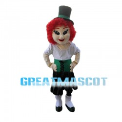 Red Hair Dancer Mascot Costume
