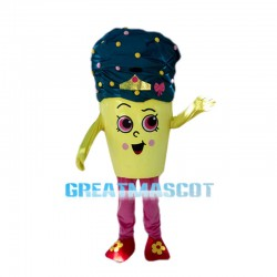 Cartoon Ice Cream Cone Mascot Costume