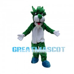 Cool Green Cheetah Mascot Costume