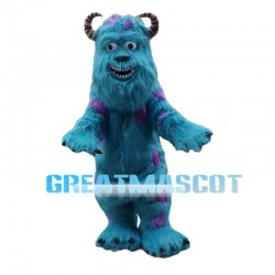 Cheerful James P. Sullivan Blue Fur Monster Mascot Costume