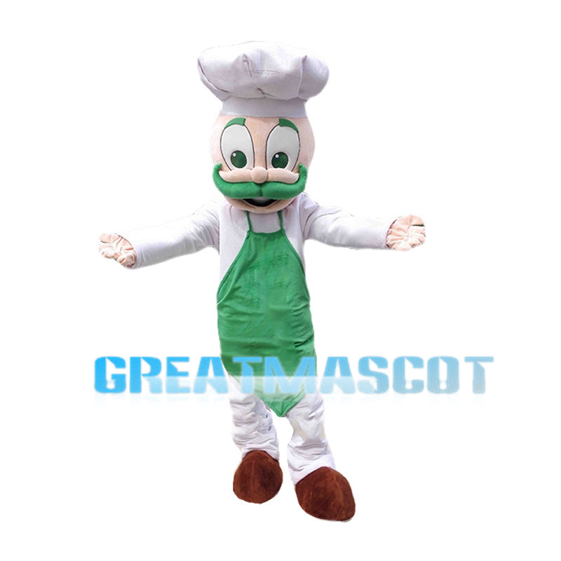 Green Beard Chef Mascot Costume