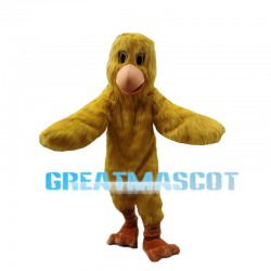 Little Yellow Bird Long Fur Mascot Costume