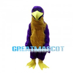 Big Purple Bird Long Fur Mascot Costume