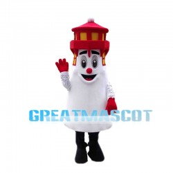 Deluxe Cartoon Red Lighthouse Mascot Costume