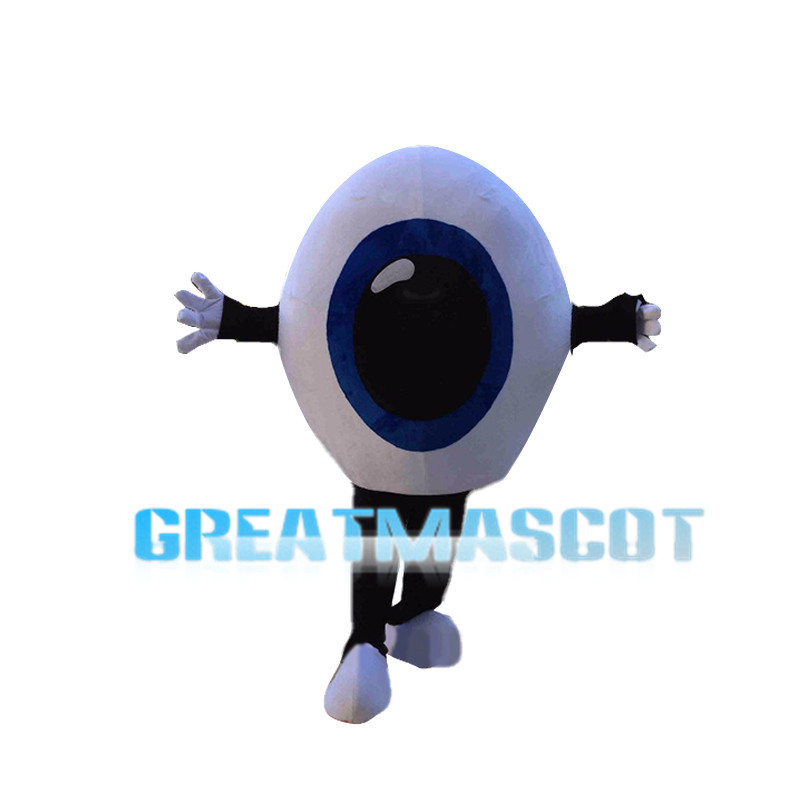 Huge Blue Eyeball Mascot Costume