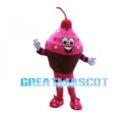 Huge Cartoon Cupcake Mascot Costume For Female