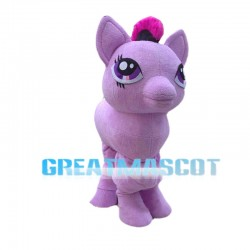 Purple Little Pony Twilight Sparkle Mascot Costume For 2 Person