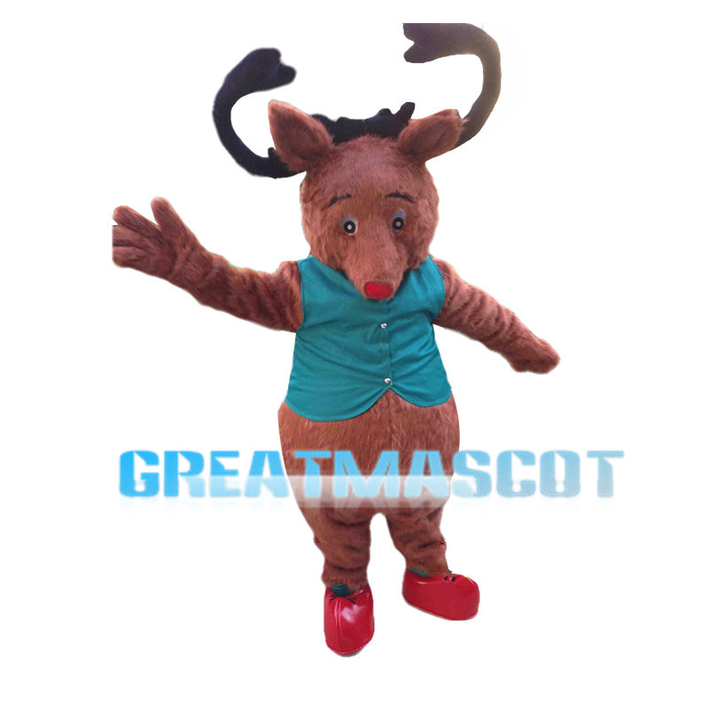 Little Red Deer Mascot Costume