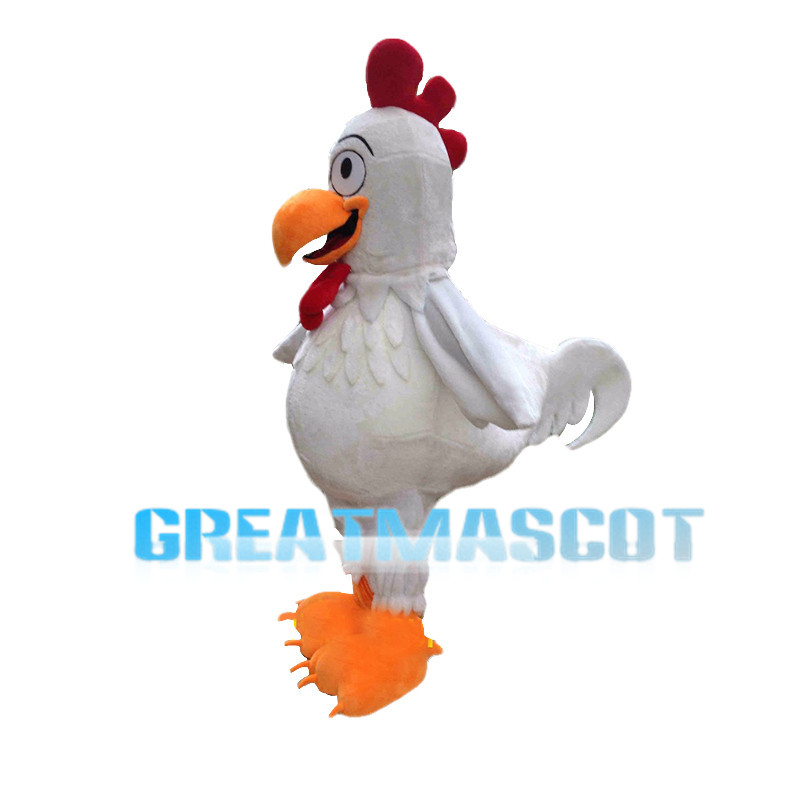 Deluxe White Rooster Mascot Costume