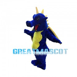 Fierce Blue & Yellow Flying Dragon Mascot Costume