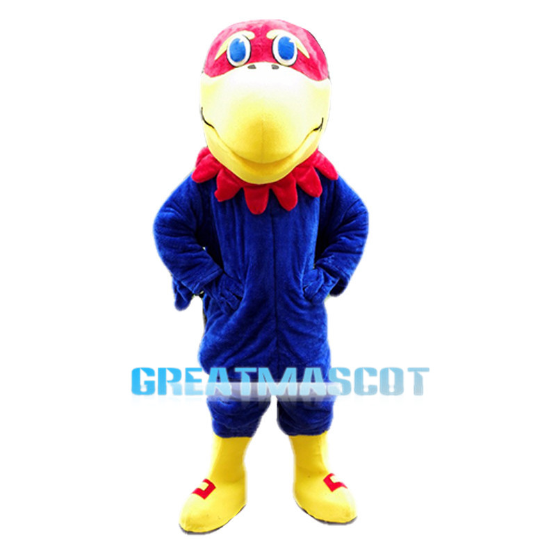 Red Head Blue Eagle Animal Mascot Costume