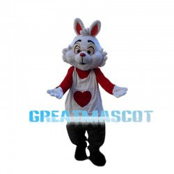 Disneyland Park White Rabbit Mascot Costume