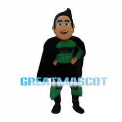 Green Superhero Mascot Costume