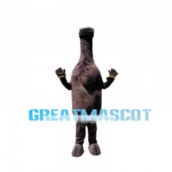 Dark Beer Bottle Mascot Costume