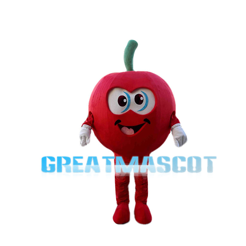 Huge Cartoon Red Apple Mascot Costume