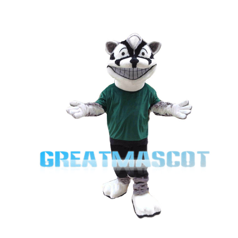 Smiling Hyena Dog Mascot Costume