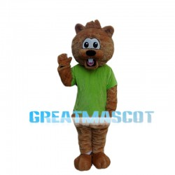 Surprised Cartoon Little Beaver Mascot Costume