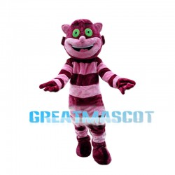 Cheerful Cheshire Cat Mascot Costume