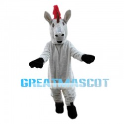 Red Hair Unicorn Mascot Costume