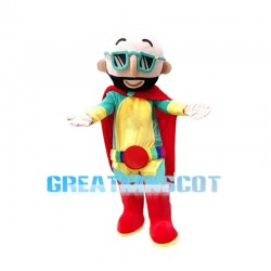 Bald Superhero Mascot Costume
