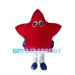 Lovely Cartoon Red Five Star Mascot Costume