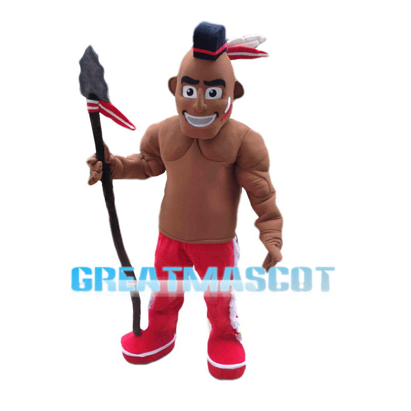 Native American Warrior Mascot Costume
