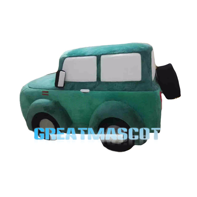 Deluxe Green Jeep Car Cartoon Mascot Costume