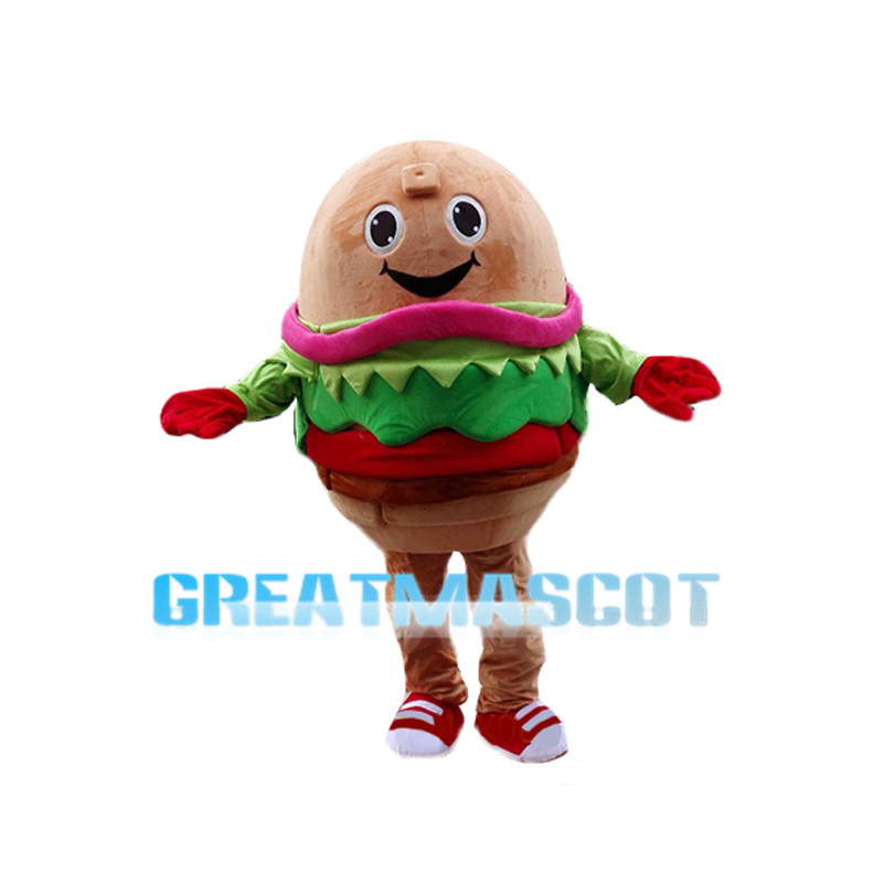 Huge Cartoon Salmon Burger Mascot Costume