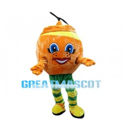 Cartoon Orange Peel Mascot Costume