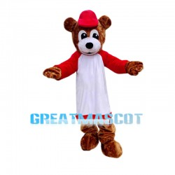 Sports School Brown Bear Mascot Costume
