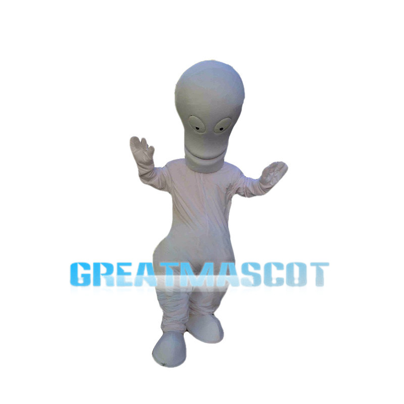 Basic Version Of White Alien Mascot Costume