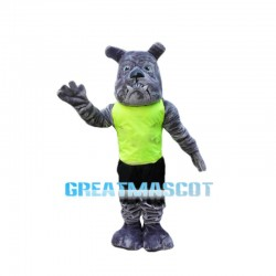 Power Gray Bulldog Mascot Costume