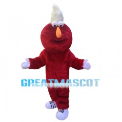 Playful Furry Red Monster Elmo Mascot Costume