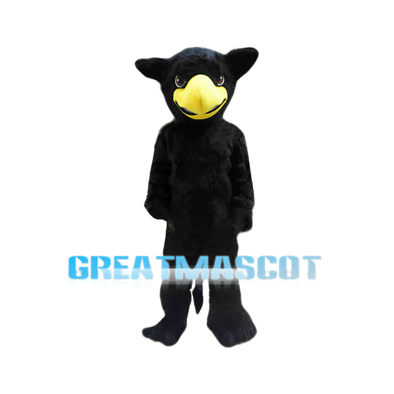 Mythical Hawk Monster Griffin Black Mascot Costume