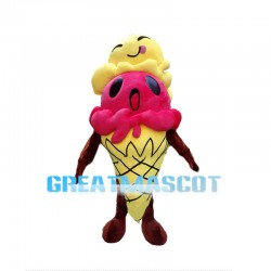 Deluxe Double Scoop Ice Cream Cone Cartoon Mascot Costume