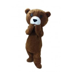 Plush Fur Teddy Bear Mascot Costume
