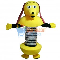 Yellow Cartoon Robot Dog Mascot Costume