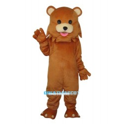 Strange Mouth Bear Mascot Adult Costume