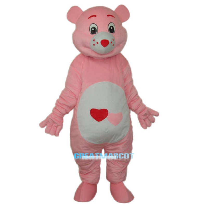 Red Heart Bear Mascot Adult Costume