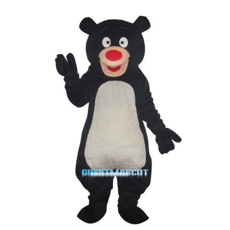 Black Blue Bear Mascot Adult Costume