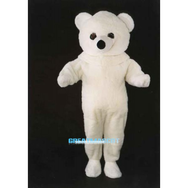 White Polar Bear Costume Mascot