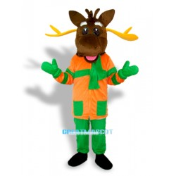 Christmas Deer Adult Mascot Costume Free Shipping