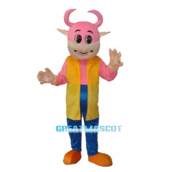 No.1 Cow Mascot Adult Costume Free Shipping