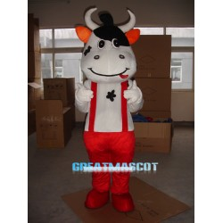 Red Cattle Mascot Costume Free Shipping