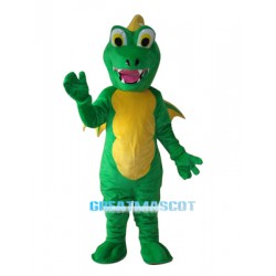 Big Mouth Thorn Green Dinosaur Mascot Adult Costume Free Shipping