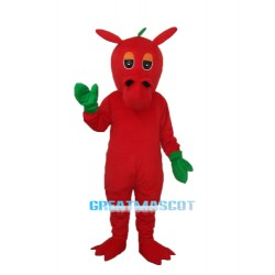 Flower Red Dragon Mascot Adult Costume Free Shipping